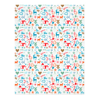 christmas pattern wrapping paper with christmas ic letterhead design