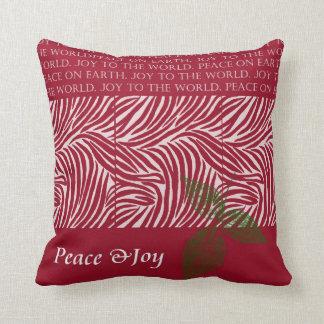 Christmas Peace and Joy Throw Pillows