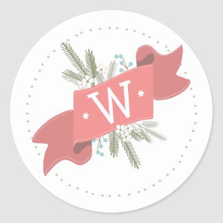 Christmas Peace Holiday Personalized Banner Round Sticker