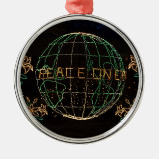 Christmas Peace on Earth 1 Silver-Colored Round Ornament