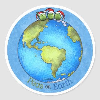 Christmas Peace on Earth Classic Round Sticker