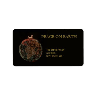 Christmas Peace on Earth Label