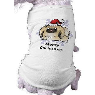 Christmas Pekingese (show cut) Dog T Shirt