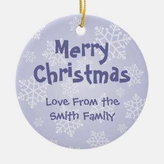 Christmas Pembroke Welsh Corgi (add your message) Ceramic Ornament