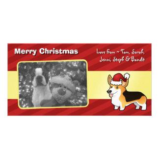 Christmas Pembroke Welsh Corgi Card