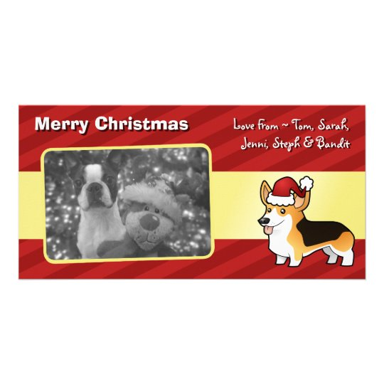 Christmas Pembroke Welsh Corgi Personalized Photo Card