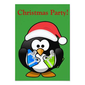 "Christmas Penguin 5"" X 7"" Invitation Card"