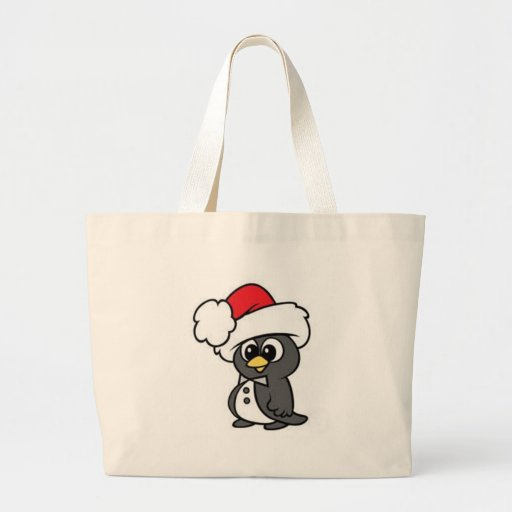 Christmas Penguin Tote Bags