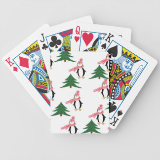 Christmas Penguin Bicycle Playing Cards