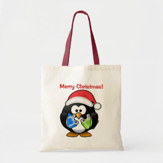 Christmas Penguin Budget Tote Bag
