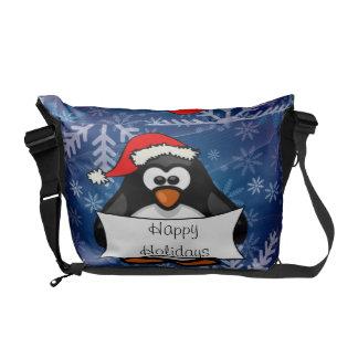Christmas Penguin Commuter Bag