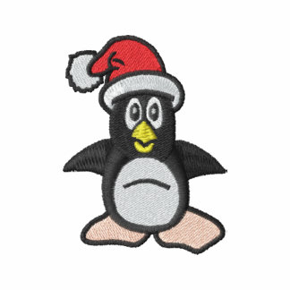 Christmas Penguin Embroidery Design Gift