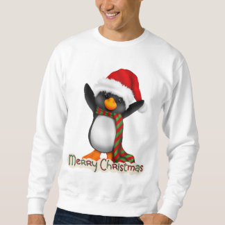 Christmas Penguin Holiday cartoon t-shirt