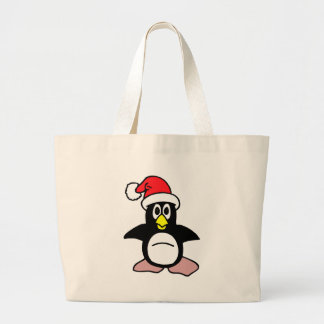 Christmas Penguin Jumbo Tote Bag
