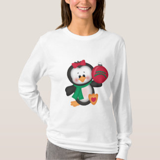 Christmas Penguin long sleeve nano t-shirt