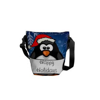 Christmas Penguin Messenger Bags