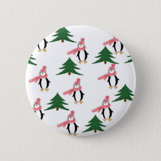 Christmas Penguin Muffin 2 Inch Round Button