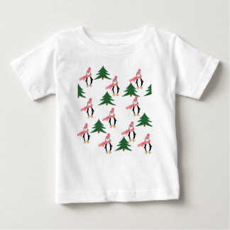 Christmas Penguin Muffin Baby T-Shirt