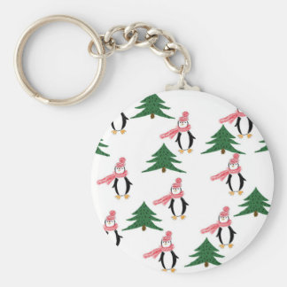 Christmas Penguin Muffin Keychain