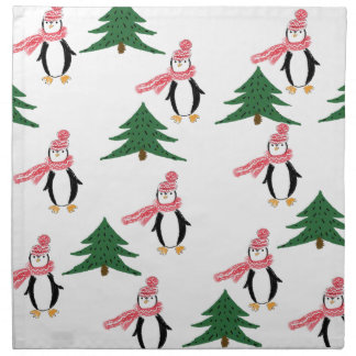 Christmas Penguin Napkin