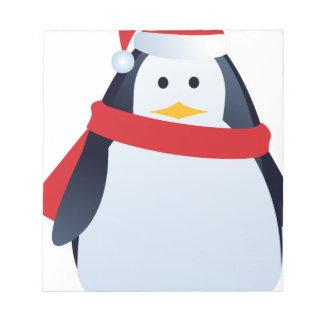 Christmas Penguin Notepad