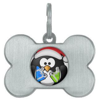 Christmas Penguin Pet Tag