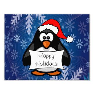 Christmas Penguin Photo