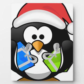 Christmas Penguin Plaque