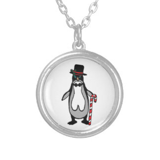 Christmas Penguin Silver Plated Necklace