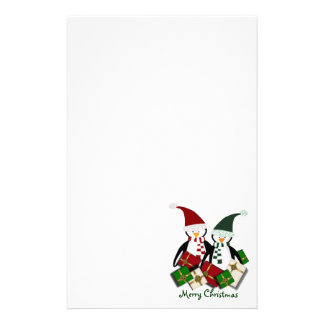 Christmas Penguin Stationary Stationery