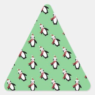 Christmas Penguin Triangle Sticker