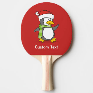 Christmas penguin walking on snow ping pong paddle