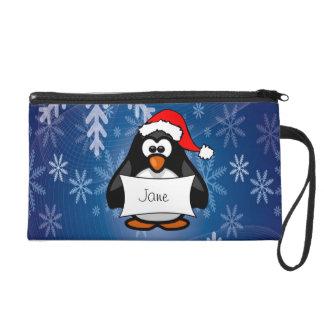 Christmas Penguin Wristlet Purses