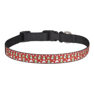 Christmas penguins background pet collar