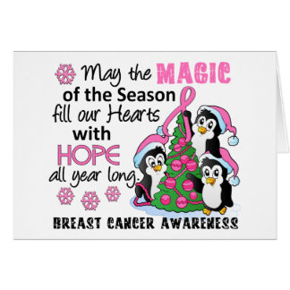 Christmas Penguins Breast Cancer Cards