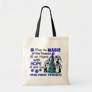Christmas Penguins Colon Cancer Bags