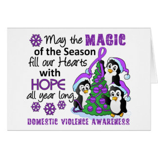 Christmas Penguins Domestic Violence Card