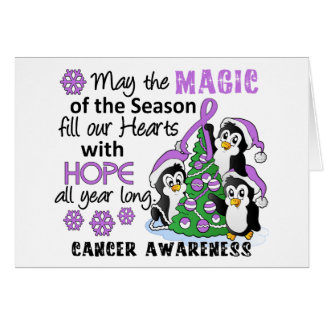 Christmas Penguins General Cancer Greeting Card