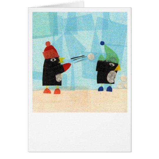 Christmas Penguins! Greeting Card