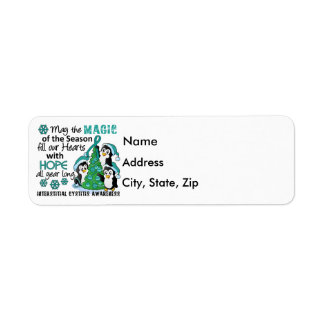 Christmas Penguins Interstitial Cystitis Return Address Label