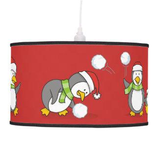 Christmas penguins pendant lamp
