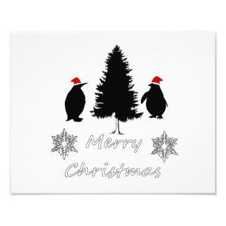 Christmas Penguins Photo Art