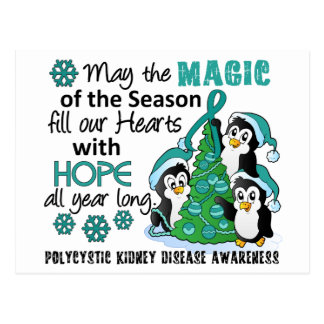 Christmas Penguins PKD Postcard