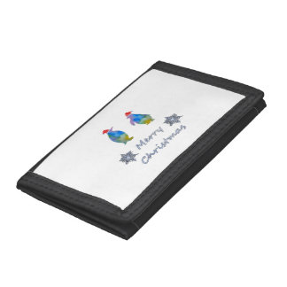Christmas Penguins Trifold Wallets