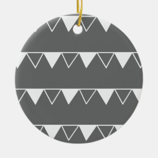 Christmas pennant banner pattern - Xmas gifts Ceramic Ornament