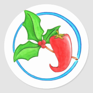 Christmas Pepper Classic Round Sticker
