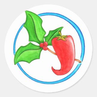 Christmas Pepper Round Sticker