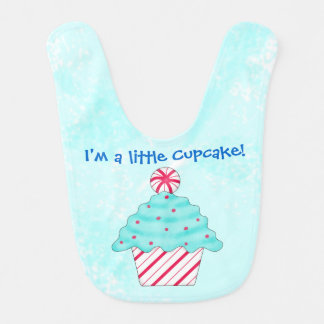 Christmas Peppermint I'm a Little Cupcake Bib