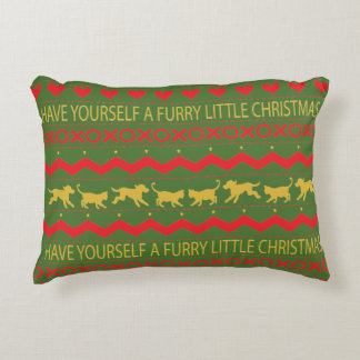 "Christmas Personalized Pillow ""Furry XMAS"" Dog/Cat"