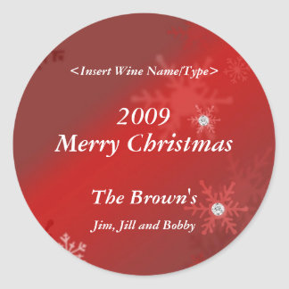 Christmas Personalized Wine Label